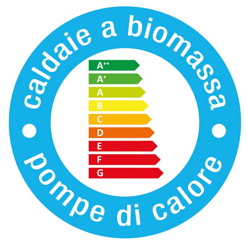 Etichetta energetica europea per caldaie a biomassa & pompe di calore