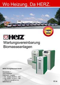 Herz Wartungsvereinbarung Biomasse bis 101 kW